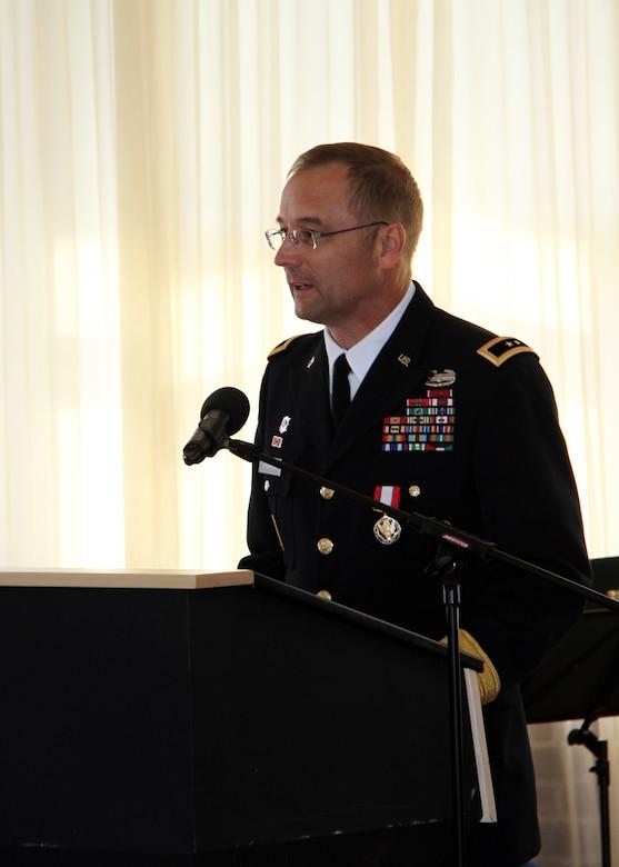 Maj. Gen. William H. Graham speaks at ceremony