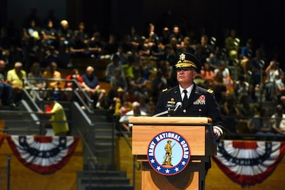 Lt. Gen. Kadavy hosts Twilight Tattoo, recognizes employers