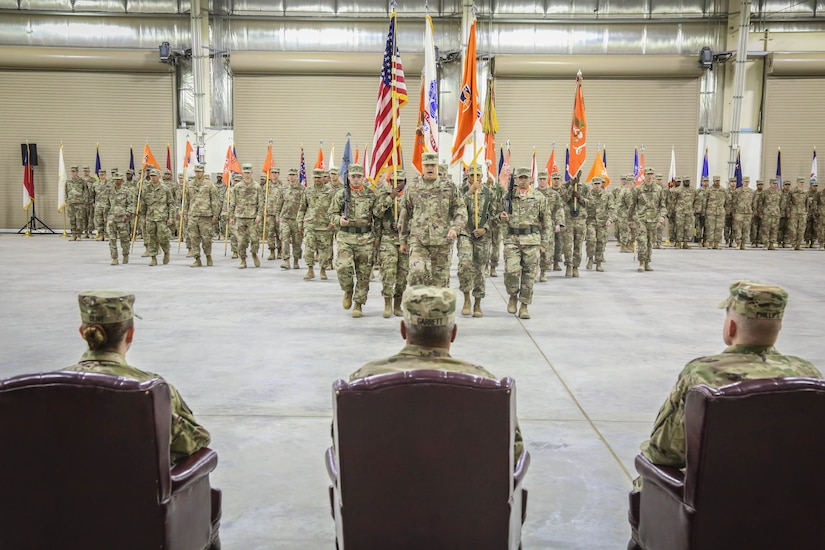 The official party observes the command during the 335th Signal Command (Theater) (Provisional) change of command ceremony between Brig. Gen. John H. Phillips and Brig. Gen. Nikki L. Griffin Olive.