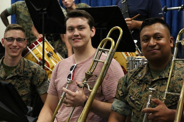 The workshop participants were able to see an inside look at the career of a Marine Corps Musician. Beginning at the Naval School of Music in Norfolk, Virginia, where Marine Musicians go to school immediately following recruit training and Marine Combat Training. The next stop took the workshop to the Quantico, Virginia where they participated in a band rehearsal, and saw the musicians participate in a change of command ceremony.   The educators also had the opportunity to attend a rehearsal and performance of the United States Marine Drum and Bugle Corps also known as the Commandant's Own at Marine Barracks Washington. The final event was took place at Marine Barracks Washington, where they observed the Evening Parade, which features the Marine Corps' premiere bands, the President's Own United States Marine Corps Band and the Drum and Bugle Corps.