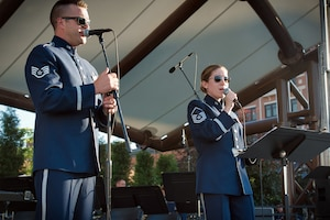 The 566th Air Force Band performs in Wausau, Wis., June 27, 2018.