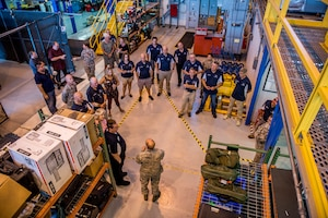 Team Dover honorary commanders tour the Consolidated Tool Kit at Dover Air Force Base, Del., July 19, 2018. Honorary commanders received an in-depth briefing of Team Dovers' maintenance groups' capabilities to execute U.S. Air Force missions. (U.S. Air Force photo by Staff Sgt. Damien Taylor)