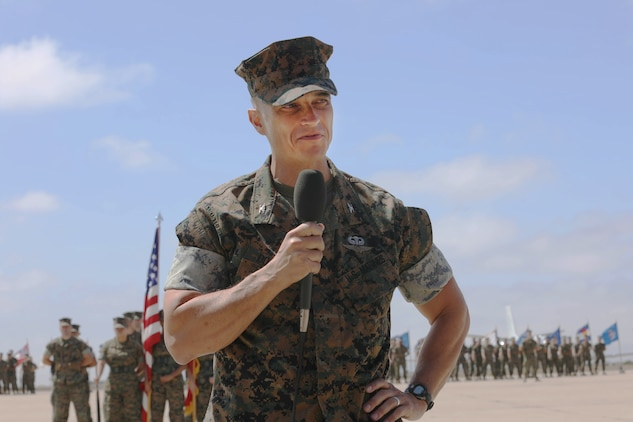Col. Jason G. Woodworth relinquishes command of MCAS Miramar