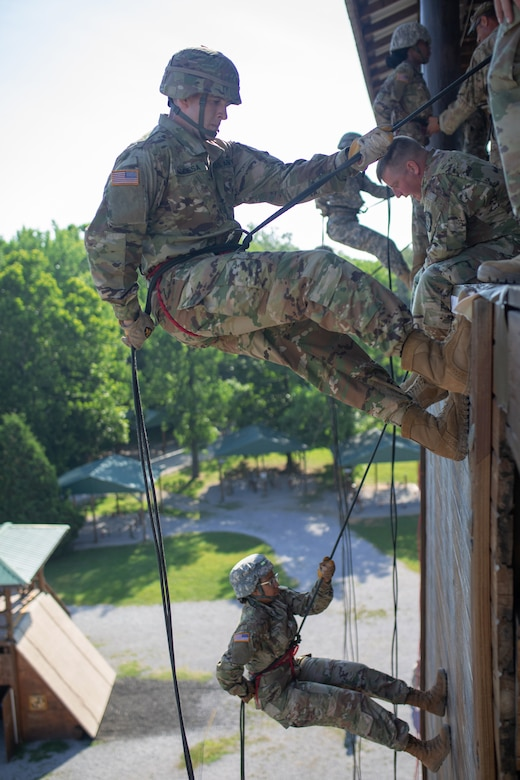 Cadets rappel into the future under the guidance of U.S. Army Reserve NCOs