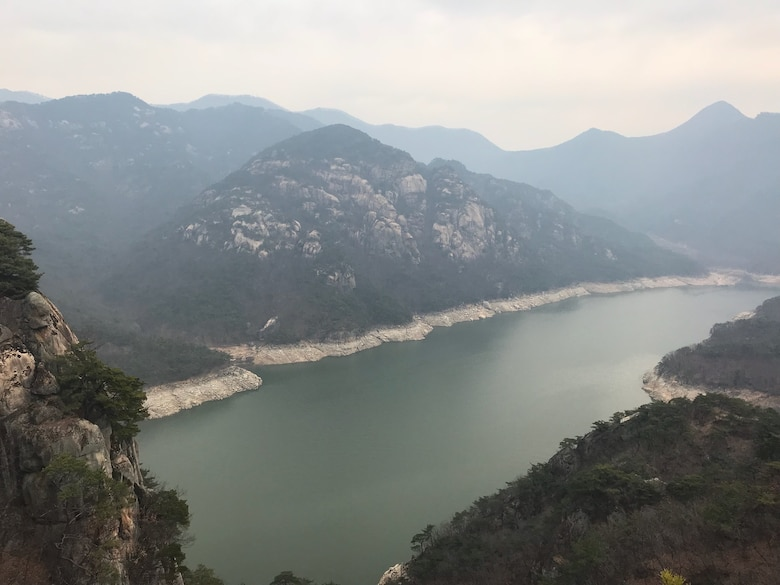 Darrell Townsend, a craft supervisor at Arnold Air Force Base, and his wife Renee were able to visit Chunju Lake at Woraksan National Park, while sightseeing in South Korea. Townsend was recently deployed to Osan Air Base in South Korea as part of his duties as Seventh Air Force Superintendent for the Tennessee Air National Guard. (Courtesy photo)