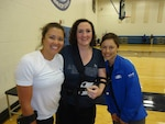 PSNS & IMF employee Adrienne Rank (center) visits fellow Warrior Game athletes and cancer survivors Sarah Evan (left) and Laura McClosky.