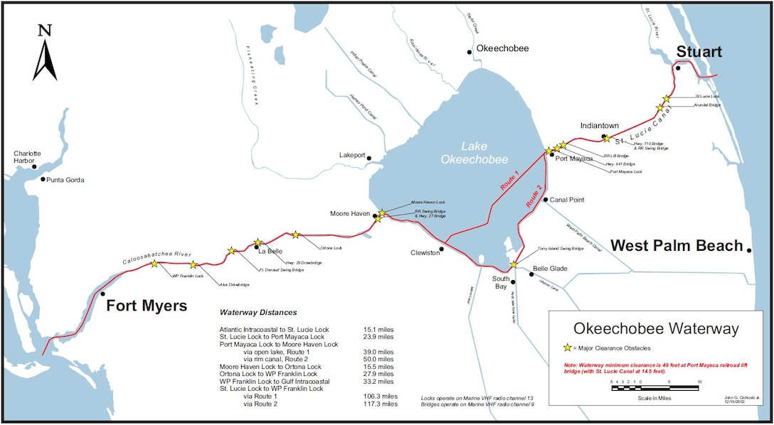 Okeechobee Waterway Map