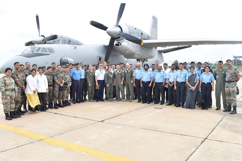 Members of the U.S. Air Force and Indian Air Force attending a recent U.S. Air Force and Indian Air Force subject matter expert exchange (SMEE) at the Institute of Aviation Medicine in Bengaluru, India, pose for a group photo in late June 2018. The four-day inaugural, bilateral exchange was designed to facilitate an understanding of the medical capabilities each service brings to the table. (Courtesy photo)