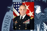 Army Gen. Gustave Perna began his career as an infantry officer but later served as commander of DLA Troop Support and Army Materiel Command, his current role. (Courtesy photo; graphic by Paul Crank)