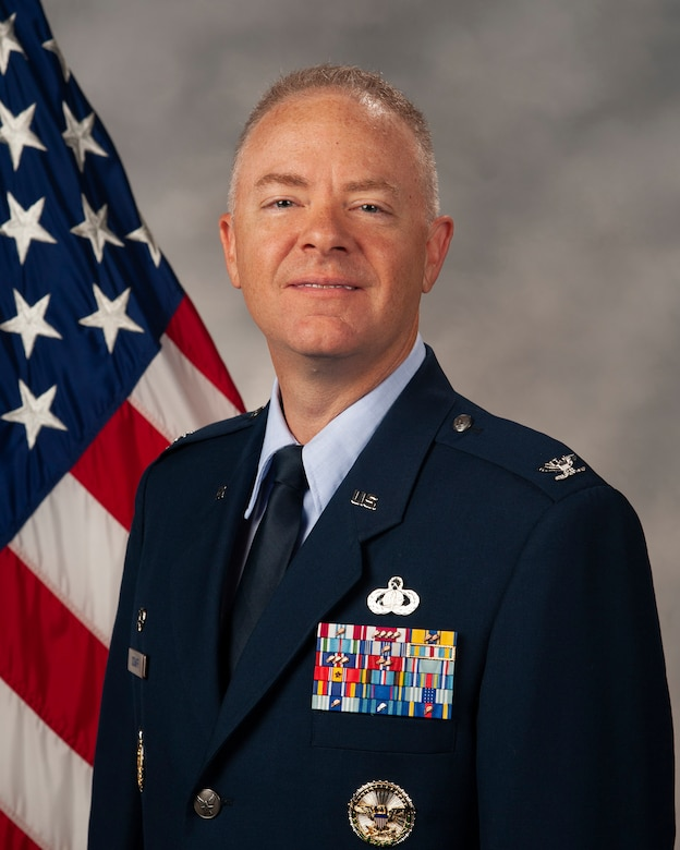 Col. Tyler Schaff, Mission Support Group commander (U.S. Air Force photo)
