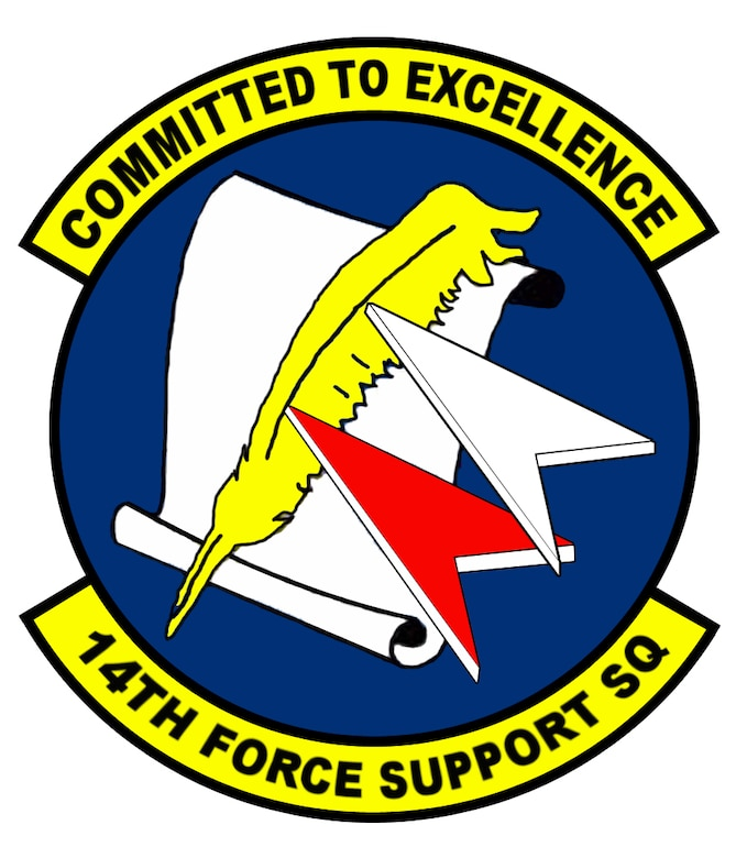 14th Force Support Squadron patch design.