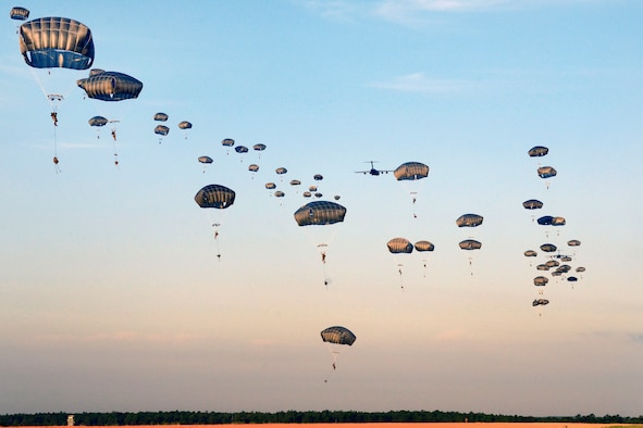 Soldiers participate in airborne operations during Operation Devil Storm.
