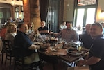 The People and Development Division enjoying their lunch at the Boar and Barrel, Creekside, Gahanna, Ohio on July 11, 2018