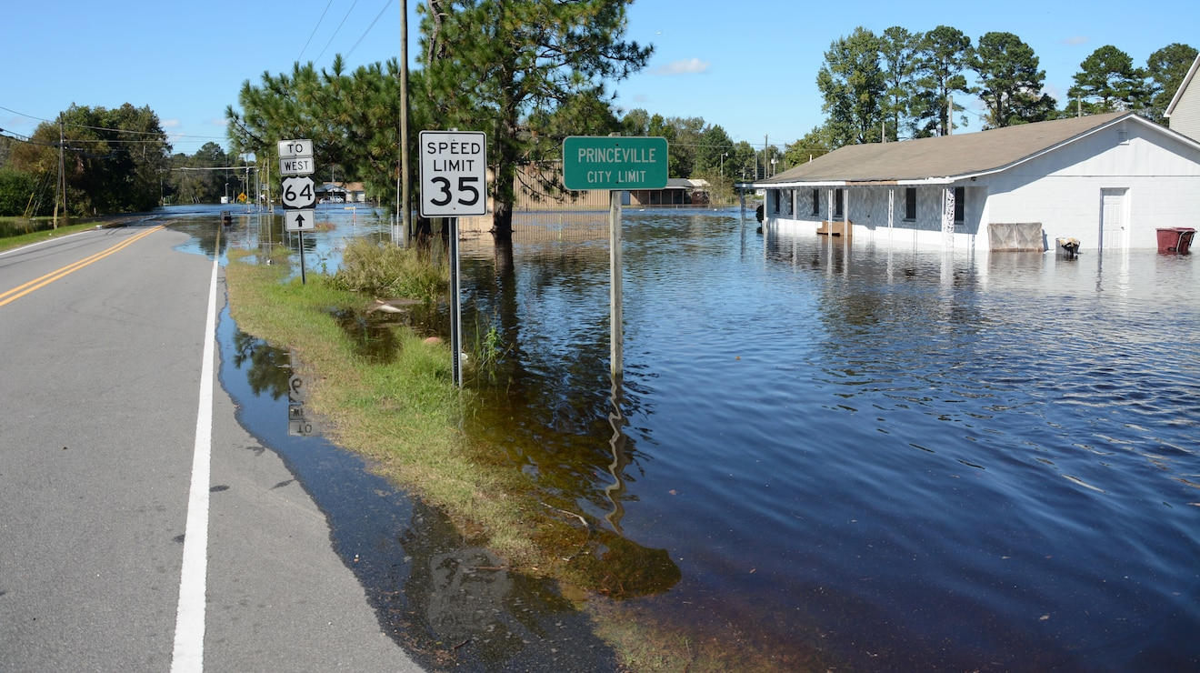 Flooding after Hurricane Matthew, 2016.