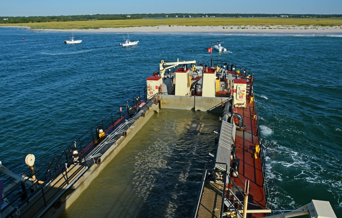 Shallowdraft vessel MURDEN at Carolina Beach Inlet.