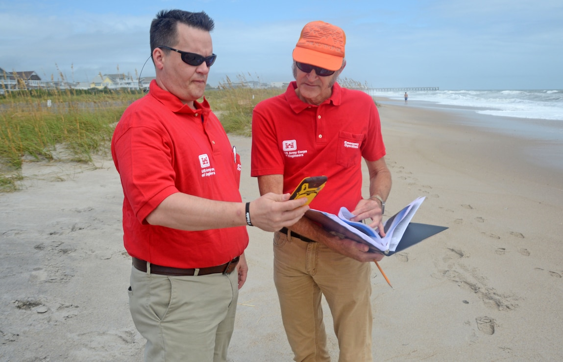 Preliminary Damage Assessment team at Wrightsville Beach.