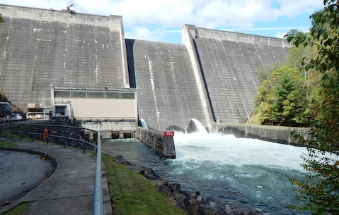 Philpott Dam near Bassette, Virginia.