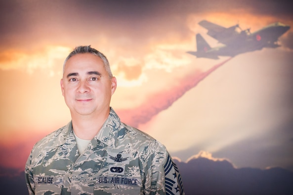 Chief Master Sgt. Kahn Scalise, is the new 302nd Airlift Wing command chief.
