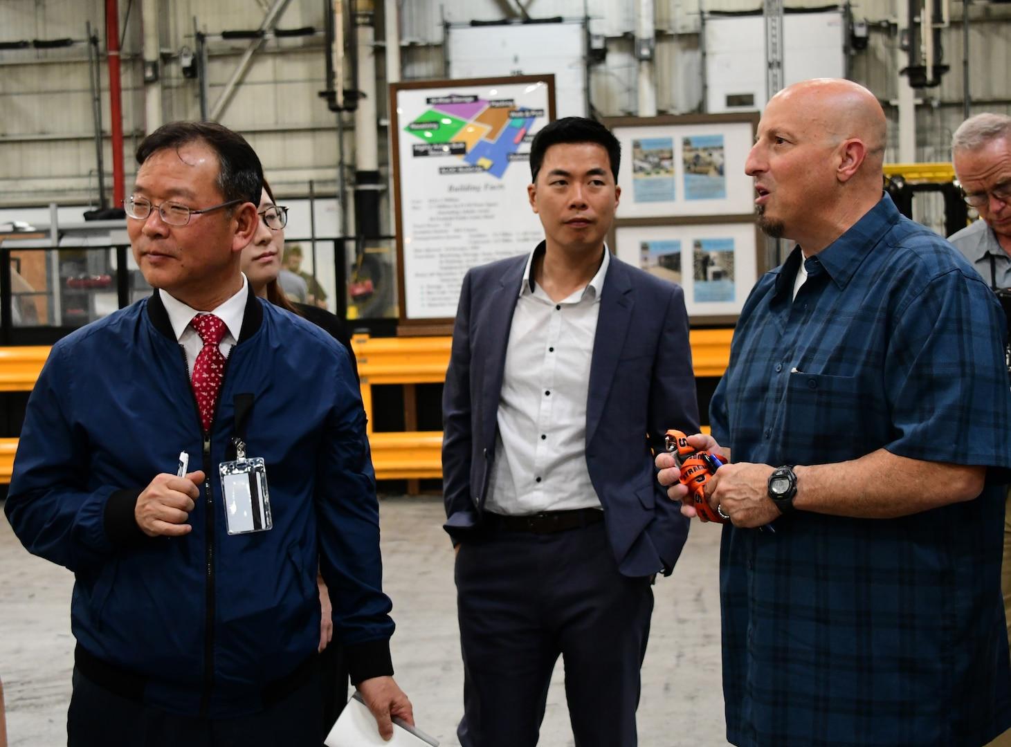 South Korea Ministry of Defense representatives visit DLA Distribution Susquehanna, Pennsylvania