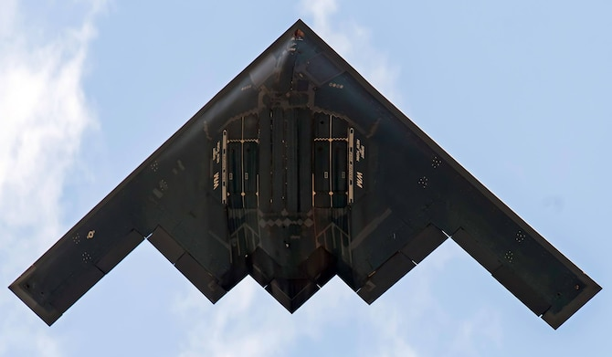 A B-2 Spirit from Whiteman Air Force Base, Missouri, was featured at the 2018 Royal International Air Tattoo at RAF Fairford in Gloucestershire, England, July 13-14, 2018.