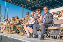 Many local dignitaries such as Tim Silva, Basrtow city councilman, and Barstow City Major Julie Hackbarth-McIntyre, attended the change of command ceremony in which Col. Sekou Karega relinquished command to Col. Craig Clemans aboard Marine Corps Logistics Base Barstow, Calif., July 19.
