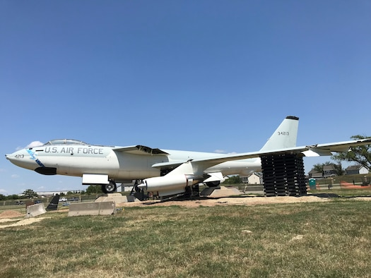 The Airmen of Team McConnell's Maintenance Group have been hard at work on the broken wing of the B-47 Stratojet, July 27, 2018, McConnell Air Force Base, Kan.  A heavy wind storm blew the wing of the static display earlier this month.