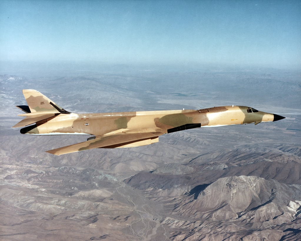 B-1 Lancer in 1980 at Edwards AFB