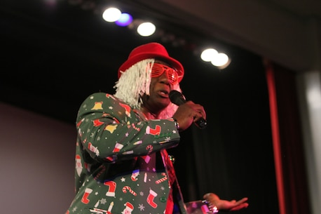 Dozens of service members, civilian-Marines and even kids performed in the Marine Corps Logistics Base Albany's very own talent show, July 25. Several acts showcased their talents ranging songs, dances and comedy skits. (U.S. Marine Corps photo by Re-Essa Buckels)