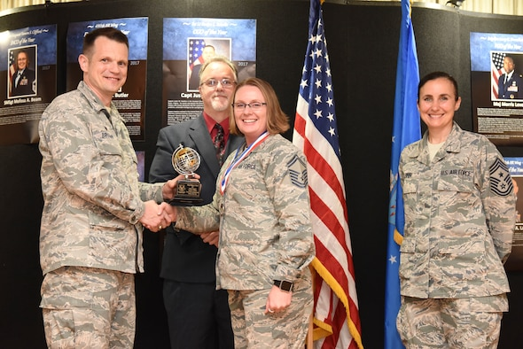 One of the 480th Intelligence, Surveillance and Reconnaissance Wing's exceptional Airmen, U. S. Air Force Senior Master Sgt. Melissa A. Beam, was recognized as one of the Air Force's 2018 12 Outstanding Airmen of the Year in the senior noncommissioned officer category.