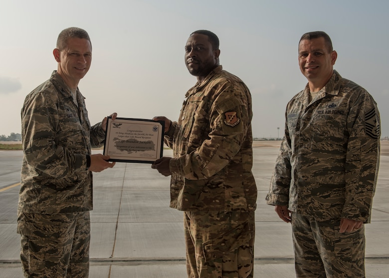 Congratulations to U.S. Air Force Staff Sgt. Brandon Jackson, 414th Expeditionary Reconnaissance Squadron aviation resource manager, for winning the deployed Larger Than Life Award.