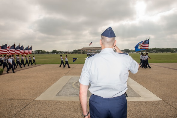 8th Air Force Commander speaks to BMT graduates