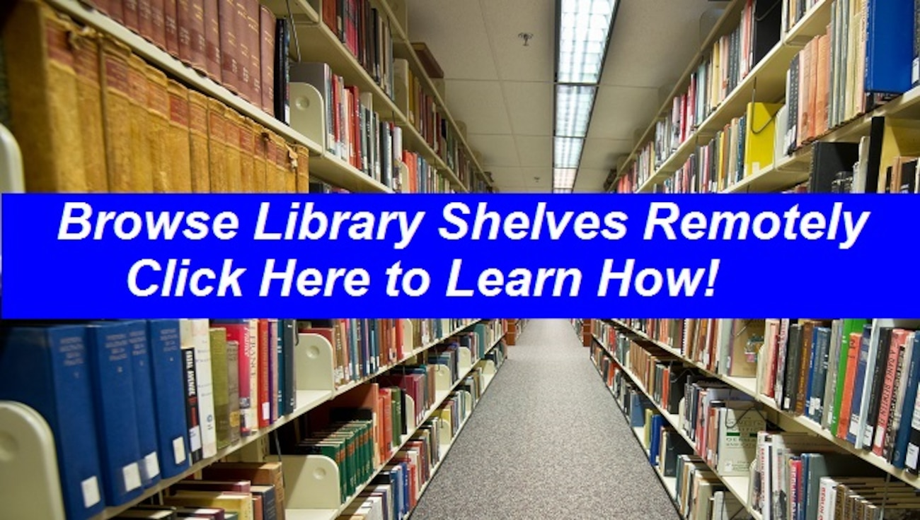 Photo of Link to Video on How to Browse Library Shelved Remotely