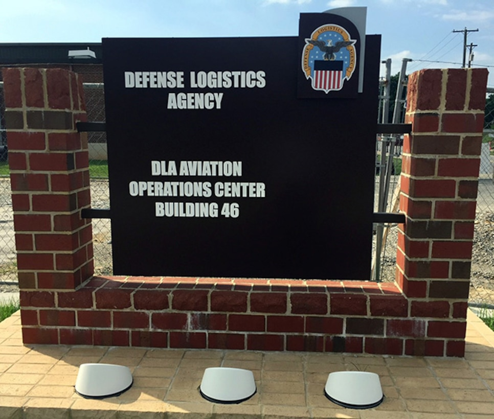 New welcome sign for DLA Aviation Operations Center