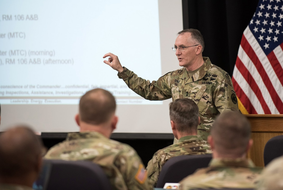 Maj. Gen. A. Ray Royalty, 84th Training Command commanding general
