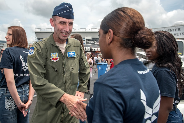 Team Seymour Airmen honored during NASCAR race
