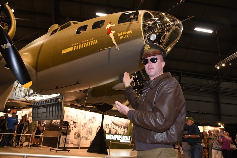 Over 160 military reenactors took part in the Memphis Belle exhibit opening events May 17-19, 2018. (U.S. Air Force photo by Ken LaRock)