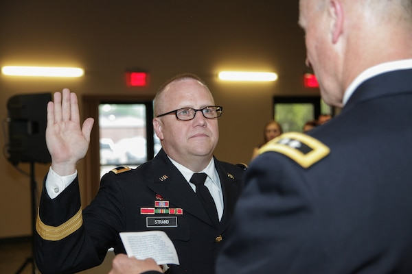 Strand promoted, continues leading reserve component engineer Soldiers