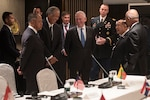Defense Secretary James N. Mattis meets with the Singaporean prime minister.