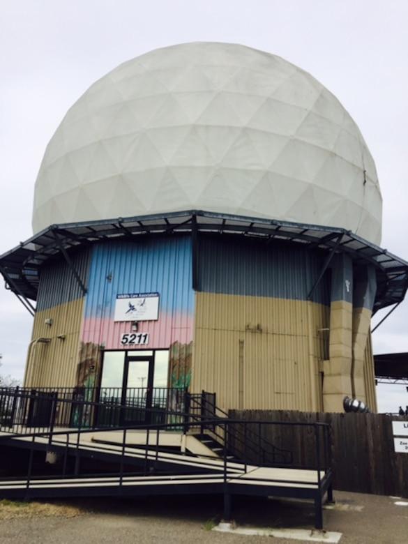 Former Air Force radar dome now a wildlife rehab facility