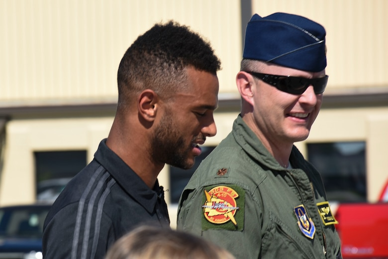 Players and executives from Sporting Kansas City paid a visit to the 442d Fighter Wing at Whiteman Air Force Base, Mo., May 30, 2018.