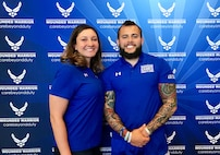 The two are part of the 39-athlete team who will represent Team Air Force during this year's competition, which officially kicked off June 1. (U.S. Air Force photo by Dave Long)
