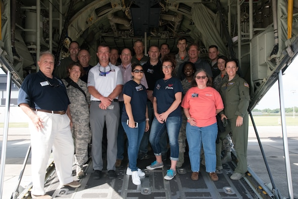 Civilian employers of 403rd Wing service members tour various shops within the 403rd Wing during Employer Appreciation Day at Keesler Air Force Base, Mississippi, June 2, 2018.  This gives employers the opportunity to see what the service member does on a unit training assembly for their Air Force Reserve career. (U.S. Air Force photo by Maj. Marnee A. C. Losurdo)