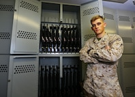 Cpl. Colburn Hanson is an armorer with Naval Amphibious Force, Task Force 51/5th Marine Expeditionary Brigade.