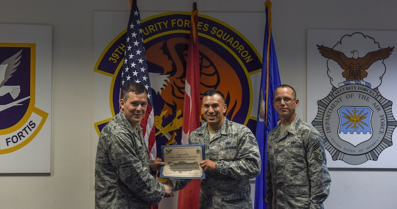 Tech. Sgt. Steven Romero poses for the Incirlik Air Base Larger Than Life award
