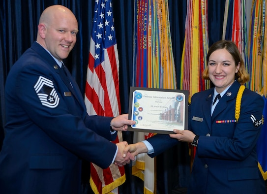 After 87 training days graduates of the Defense Information School receive a certificate acknowledging they have completed their initial training in the public affairs career field. (Courtesy photo)