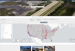 """""""The National Levee Database is a public view into the information that builds understanding of the benefits and potential risks levees pose for the communities in which they exist,"""" said Eric C. Halpin, P.E., USACE deputy dam and levee safety officer."""