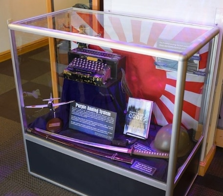 The newest addition to the collections at the Dr. Dennis F. Casey Heritage Center inside 25th Air Force Headquarters is a World War II Purple Analog which was unveiled Dec. 21 2017.