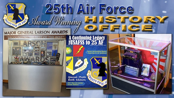 The 25th Air Force History Office was  recognized for preserving ISR's past.