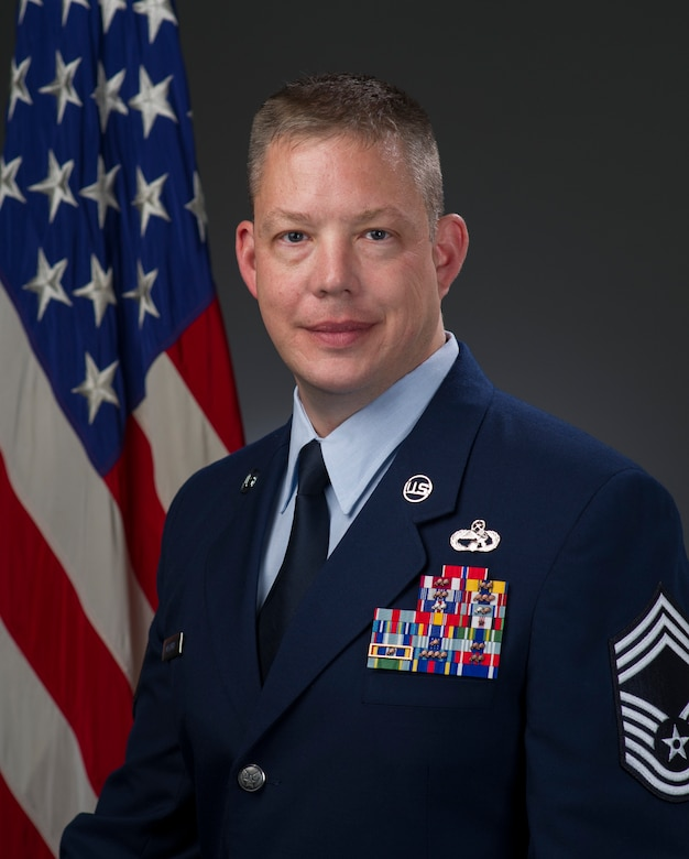 Chief Master Sgt. John Overturf, official photo, U.S. Air Force