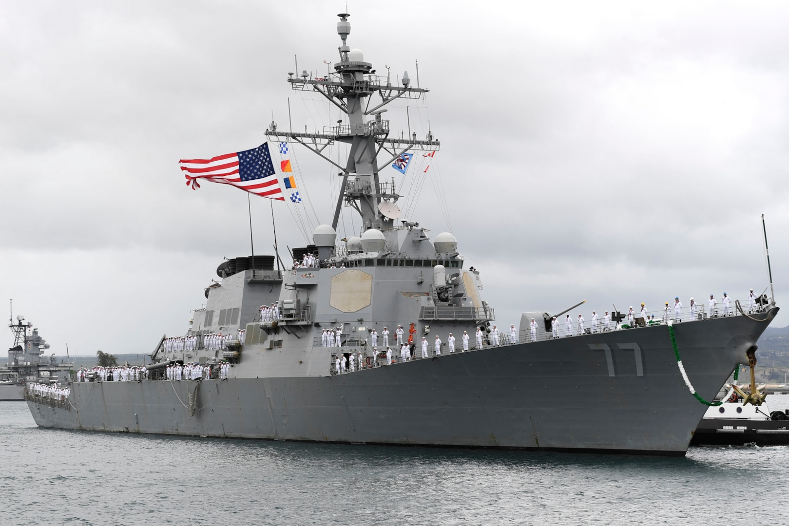 USS O'Kane returns to Pearl Harbor after deployment